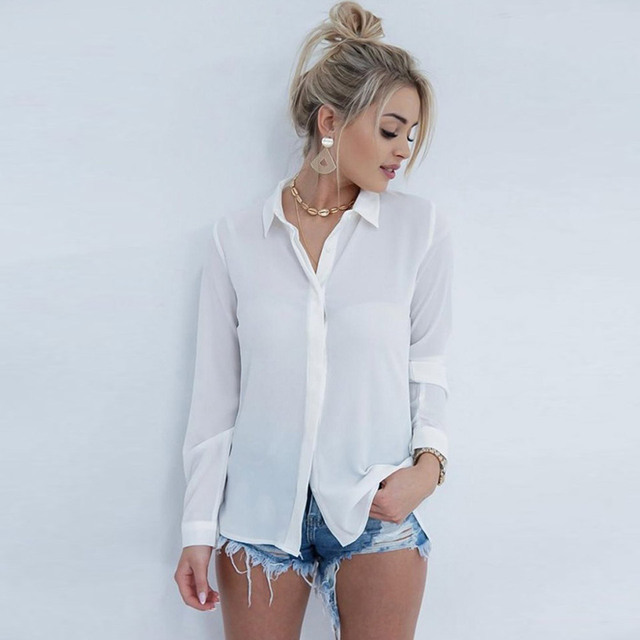 FLEUR WOOD Blouse Women Lace Sexy Blouse Shirt Backless Splice Womens Tops And Blouses Lapel blusas mujer de moda 2020 10