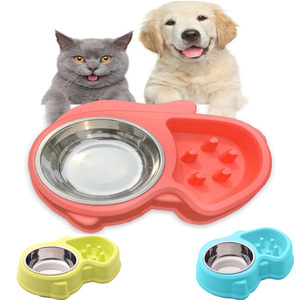 Pet Bowl Food Container Double