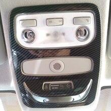 Для Renault Clio IV 2013- 5 дверный хэтчбек ABS углеродное волокно/хромированная Автомобильная Передняя панель для чтения абажура автомобильные аксессуары 1 шт