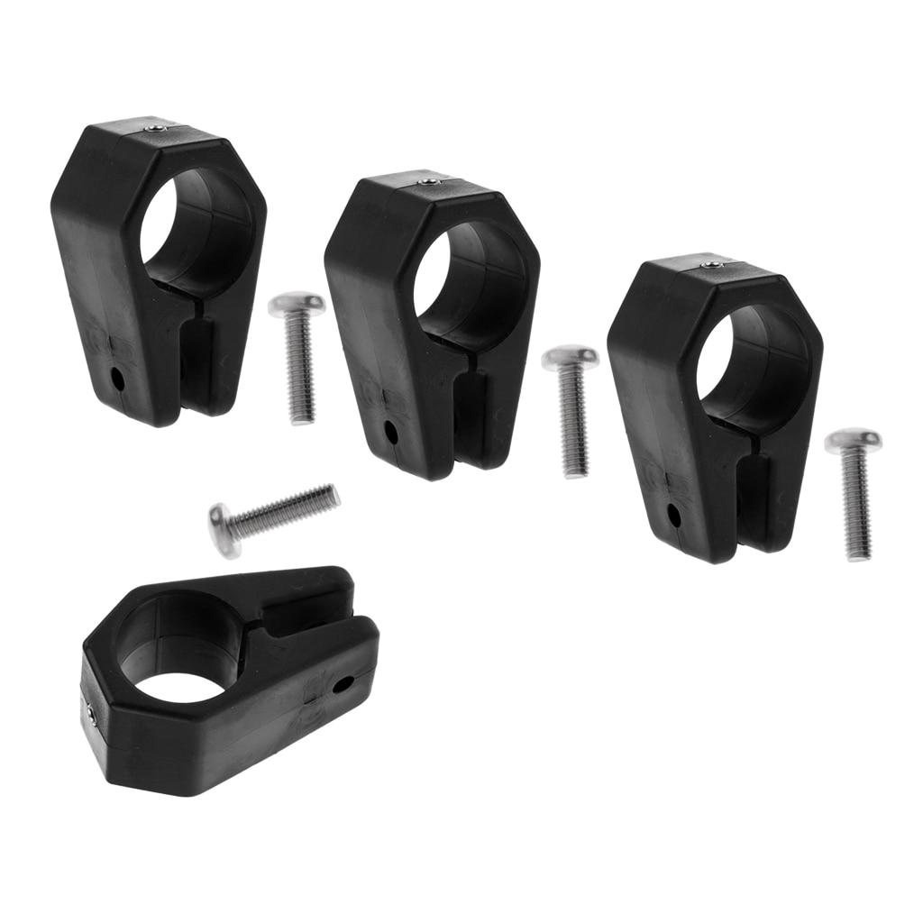 "Black Color Fits 1/"" Standard Round Tubing Bimini Boat Clip 6 Pack"