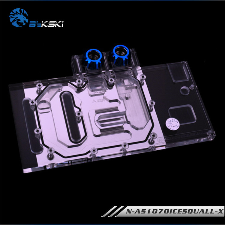 Bykski GPU cooler for ASUS GTX 1060, <font><b>1070</b></font> O3G O6G O8G O8G-SI GAMING ICE Cavaliers full cover graphics card <font><b>water</b></font> <font><b>cooling</b></font> block image