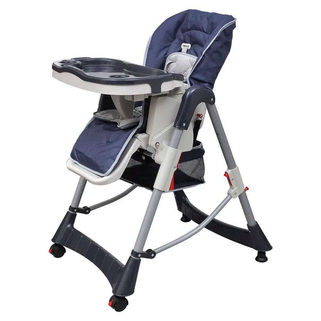 VidaXL 15 Kg Children Chair Comfortable Adjustable Highchair For Baby With Storage Basket Foldable Chair Easy-Clean Furniture