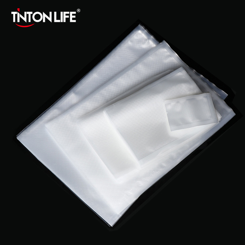 Tintonlife 100pcs/lot Vacuum Bags for Food Vacuum Sealer Packing Machine Food Storage Bag With Food Grade Material(China)