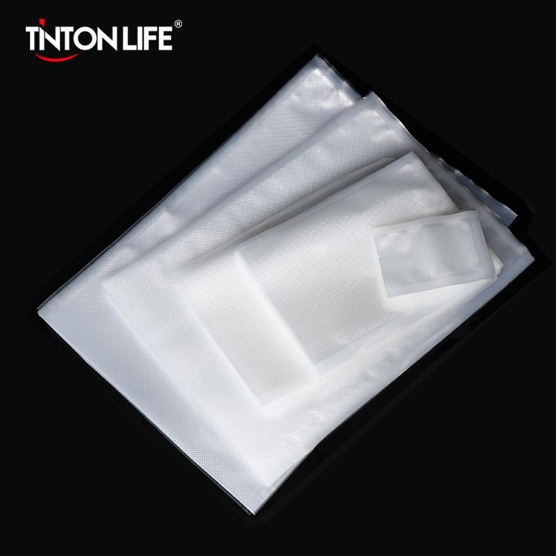 Tintonlife 100pcs/lot Vacuum Bags For Food Vacuum Sealer Packing Machine Food Storage Bag With Food Grade Material