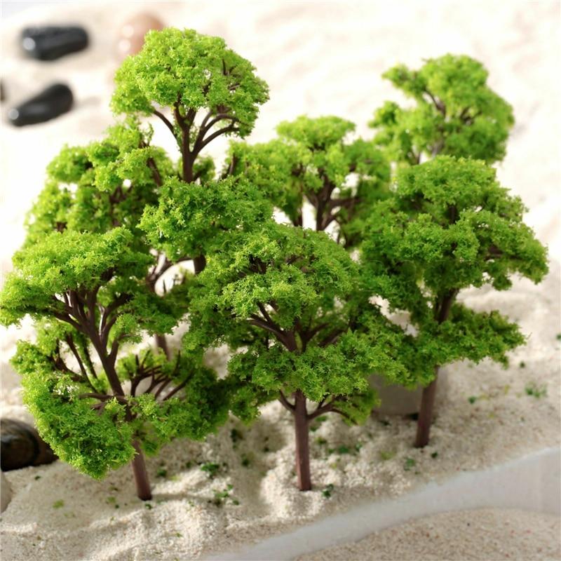10 шт 9 см Хо ОО масштабные модели деревьев поезд макет железной дороги диорама карточная игра декорации