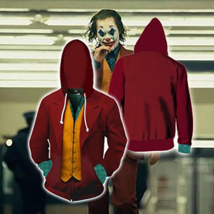 Joker Anime Sweatshirt Hoodie The Dark Knight Cosplay Comic Clown Costume Jacket Coats Men And Women