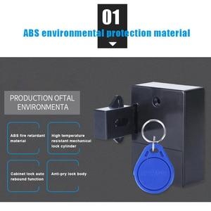 Image 2 - قفل ذكي لخزانة درج الاستشعار الذكية التعريفي خزانة باب خزانة ملابس قفل VDX99