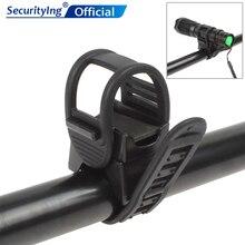 SecurityIng Универсальный 360 градусов Регулируемый резиновые ремешки крепление для велосипеда фонарик зажим держатель для налобного фонаря для светодиодный фонарик