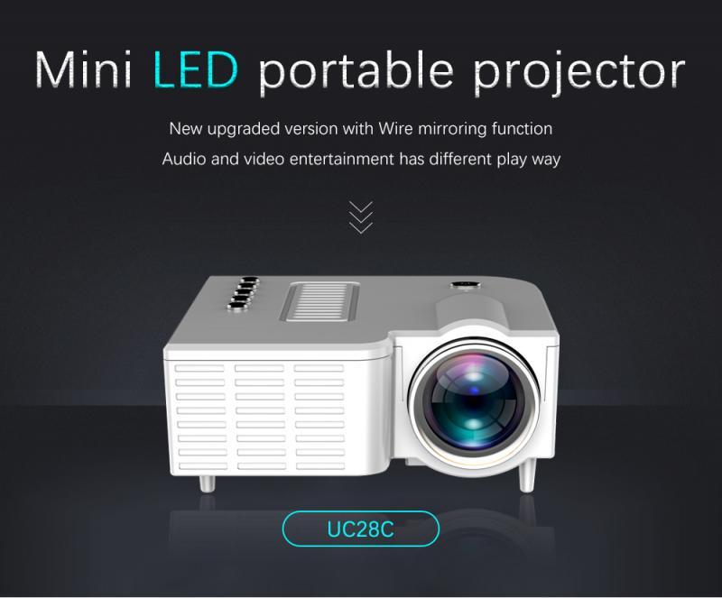 Uc28c 16.7 m mini projetor alto falante