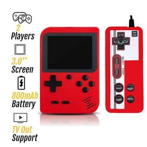Image 2 - 2020 новая игровая консоль в стиле ретро со встроенными 800 играми и поддержкой геймпада, портативная 8 битная портативная мини консоль для видеоигр, подарок для детей