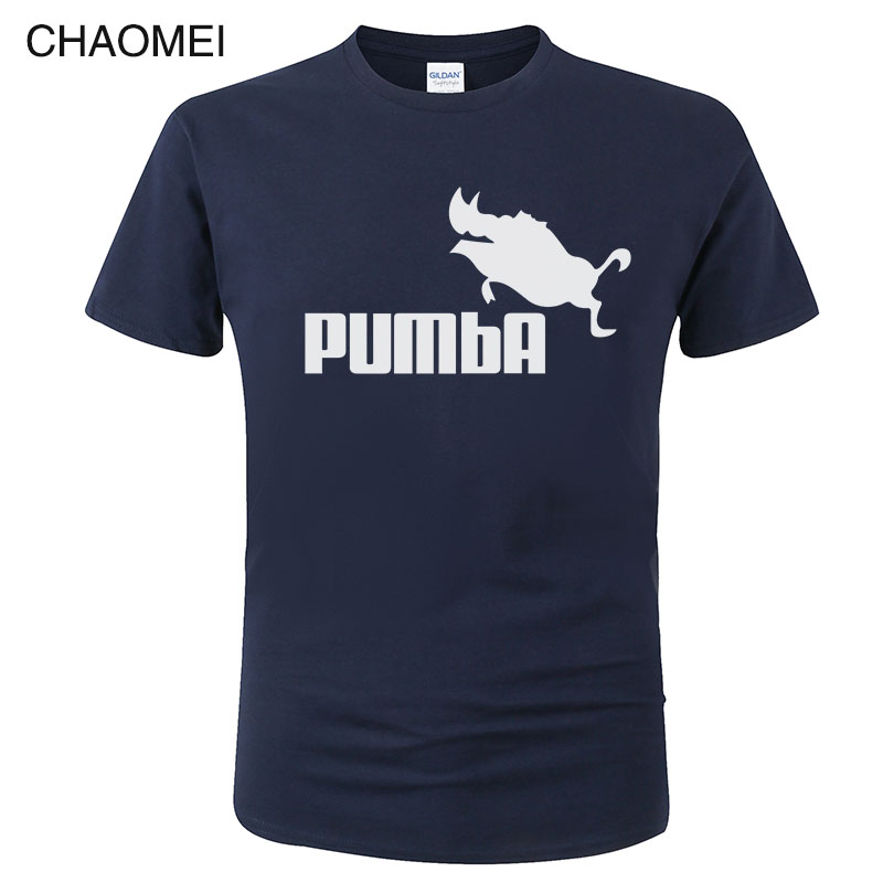 100% coton drôle T-Shirt mignon t-shirts Homme Pumba T-Shirt hommes femmes 2019 manches courtes hauts Cool imprimer été mode T-Shirt C91