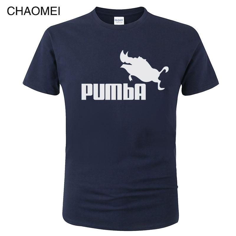 100% Cotton Funny Tee Cute T Shirts Homme Pumba T Shirt Men Women 2019 Short Sleeves Tops Cool Print Summer Fashion T-Shirt C91