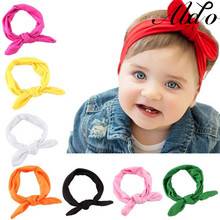 цена на ABDO Solid Baby Headband Bow Rabbit Ear Hair Bands For Girl Turban Knot Toddler Turbans Baby Accessories Bebe Fille Hairband