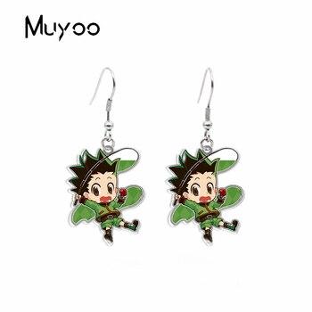 2020 New Anime HunterXHunter GON FREECSS Killua Zoldyck Kurapika Leorio Paladinight Acrylic Resin Epoxy Dangle Earrings gon volume 2