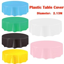 Large Plastic Circular Table Cover Cloth Wipe Clean Party Tablecloth Covers For Wedding New Fashion Personality Cozy 2021#