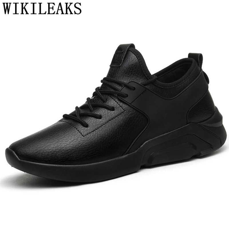 Zapatos de cuero para hombre, zapatillas de invierno, zapatos de lujo para hombre, zapatos de diseñador casual, zapatillas negras para hombre, zapatos de hombre ténis