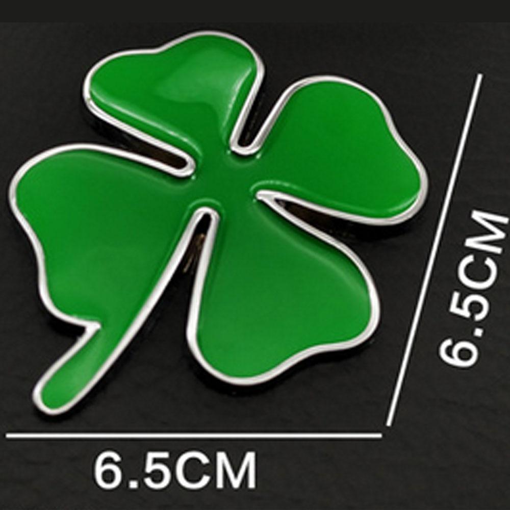 Voiture décoration autocollants vert trèfle jour Badge trèfle Chrom métal voiture style emblème autocollant amour sain chanceux symbole
