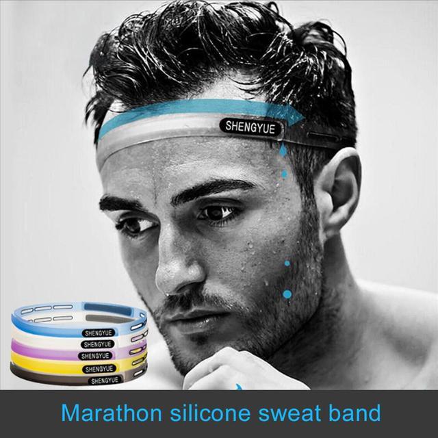 Silicone Guiding Aweat Head Band Sweatband Elastic Headbands Outdoor Sports Headwear Sweatband Belt Silicone Guiding Sweat Head