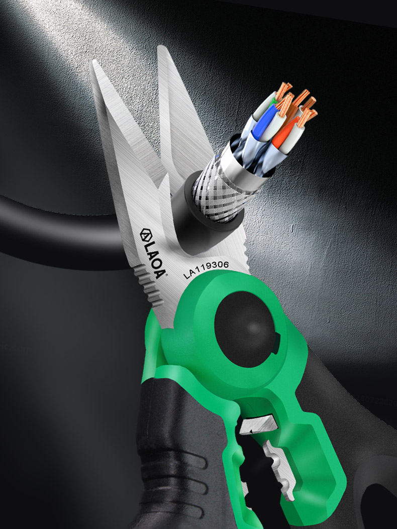Electrician Scissors Wire-Cutter Stripper-Cable Crimping-Tool Cutting LAOA Stainless-Wire