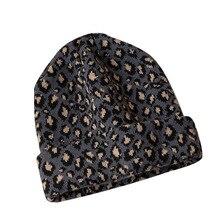 все цены на knitted beanies for ladies leopard acrylic caps cute gorro winter hats for women bonnet winter hat онлайн