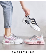 Liren 2019 Summer Fashion Casual Women Vulcanize Shoes Air Mesh Comfortable Breathable for Sport Flat Heels