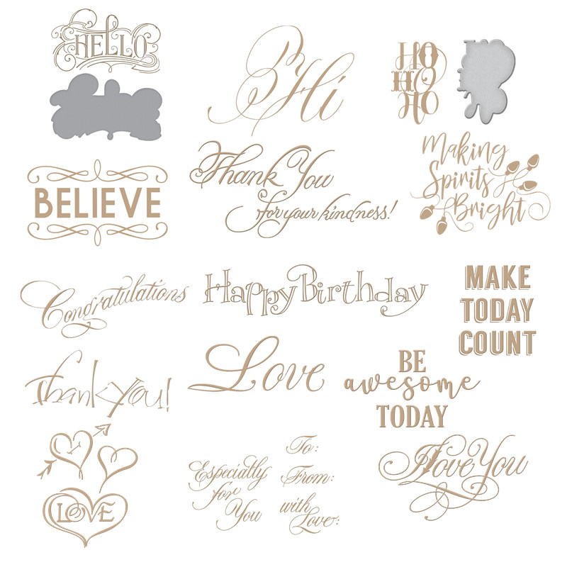 """Thank You""""Believe"" Words Metal Hot Foil Plates For DIY Scrapbooking Gift Card Making Handcraft Photo Album Embossing 2019 New"