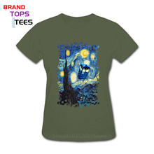 T-Shirt Women Collections Tardis-Doctor DR.WHO Blue Van for Fans Phone-Box Gogh-Design