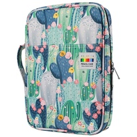 166 Slots Colored Pencil Case Oxford Fabric Pen Case with Compartments Pencil Holder for Watercolor Pencils(Cactus)