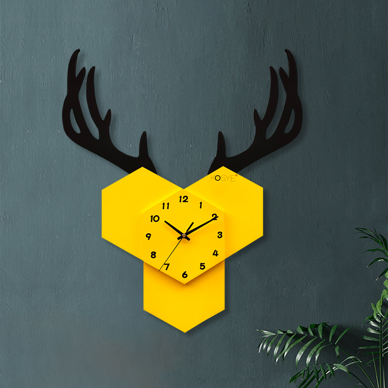 Nordic Silent Wall Clock Living Room Home Fashion Wall Clock Minimalist Decoration Relogios Parede Personality Large Clock 6DJ12