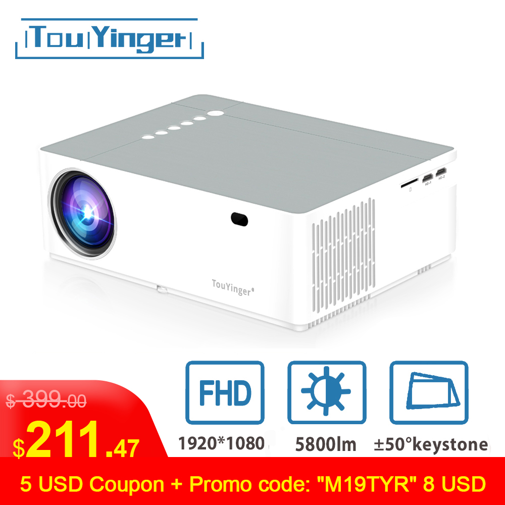 Touyinger Projector Beamer Tv-Box Video Movie Lumen-Support Android Home Theater Full-Hd title=