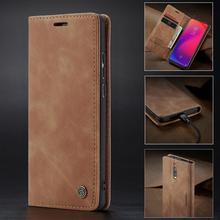 CaseMe Retro Leather For Xiaomi Redmi K20 Pro New Magnetic Flip Wallet Card Phone Case Mi 9 9T Cover