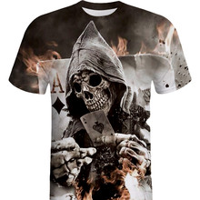 T shirt for Men Newest Skull 3D Print Cool Funny T-Shirt Short Sleeve Summer Tops Shirt Male Fashion T-shirt
