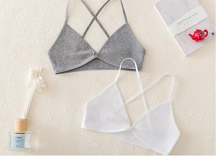 Sizzle Intimates Sexy Cotton Triangular Cup Bra