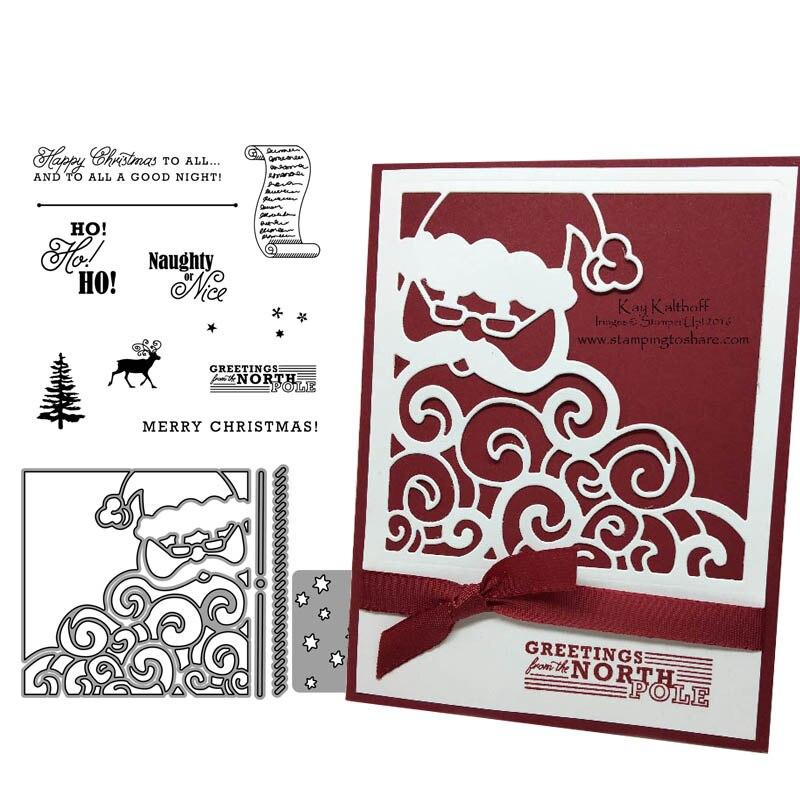 HO ho ho Merry Christmas Metal Cutting Dies Stencils for DIY Scrapbook Photo Alb