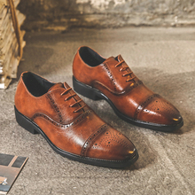 Formal Shoes Oxfords Flats Trend Paty Personality Men