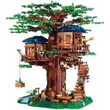 Em estoque 3036 pçs nova casa da árvore o maior modelo de árvore blocos de construção ideias compatíveis tijolos educativos diy brinquedos para crianças