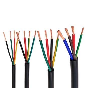 RVV black cable 22AWG 0.3MM 2 core 3 core 4 core 5 core 6 core 7 core 8 core 10 core 12 core 16 core control signal wire