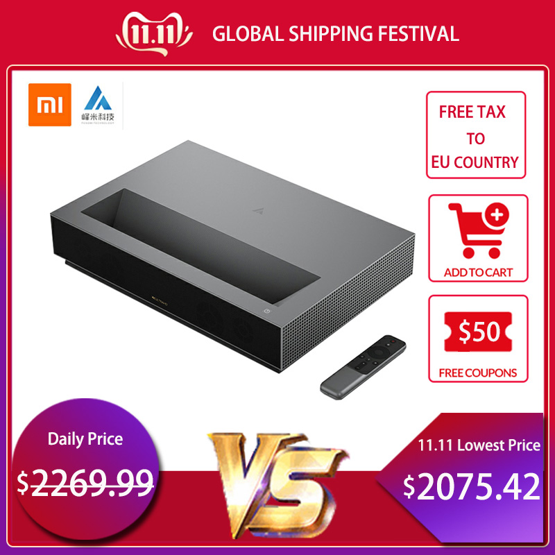 2019 Più Nuovo Xiaomi Fengmi Laser TV 4K Cinema Home Theatre 1700 ANSI Lumen 2GB DDR3 RAM 64GB EMMC ROM BLE 4.0 Supporto HDR10 DTS