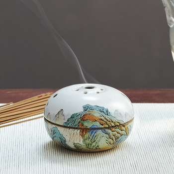 Chinese Mini Incense Burners Ceramic Antique Aromatic Diffuser Aroma Oil Burner Queimador De Incenso Buddhist Supplies MM60XXL