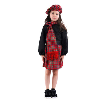 baby girls boutique clothing girls kid back to school outfits girls car camper school clothing with pink ruffle shorts with bows Girls dress set 5pcs School Girls Skirt Plaid dress suit girls cosplay costume Halloween party clothing