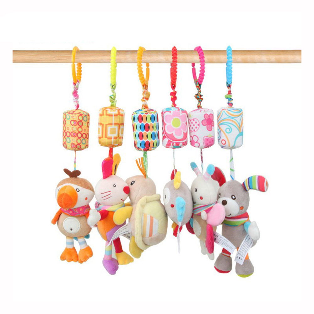 0-12 Months Educational Toys Bed Hanging Rattle Toddler Toys Newborn Toys Stroller Toy Rattles Mobile Trolley Toys J0143