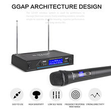 G-MARK G210V Wireless Microphone 2 Channels VHF Professional Handheld Mic For Party Karaoke Church Show Meeting