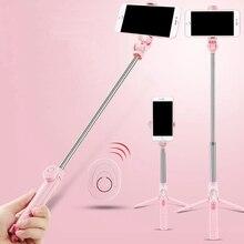 Tripé sem fio da vara de selfie bluetooth compatível com controle remoto para o obturador móvel da vara de selfie do monopod de iphone android
