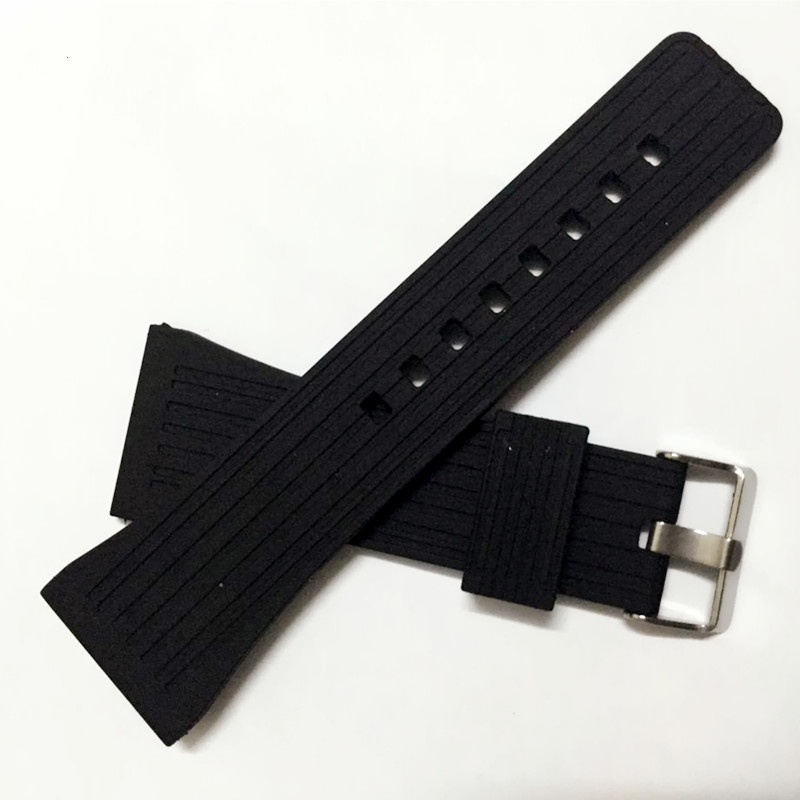 Watchband 30mm Silicone Rubber Watch Strap Bands Waterproof Watchband Belt Accessories + Tool