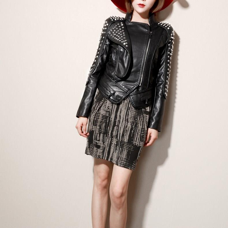 Qing mo preto casaco de couro do plutônio das mulheres 2019 inverno grosso quente trench coat feminino streetwear solto casaco de grandes dimensões zqy2322 - 4
