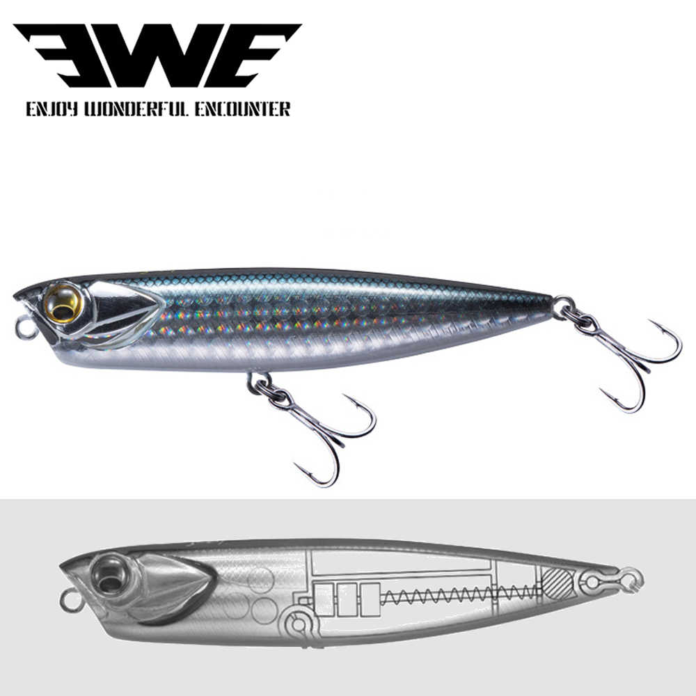 2020 nuovo EWE AR-C Topwater Penicl Lure 100mm/85 millimetri 10g/14g Galleggiante sitckbait Superficie DOGX Popper Bass Pike Lure di Pesca