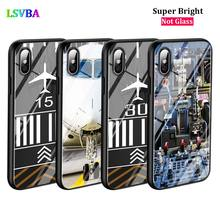 Black Cover Airplane Pilot for iPhone X XR XS Max for iPhone 8 7 6 6S Plus 5S 5 SE Super Bright Glossy Phone Case black cover bore to fly pilot plane for iphone x xr xs max for iphone 8 7 6 6s plus 5s 5 se super bright glossy phone case