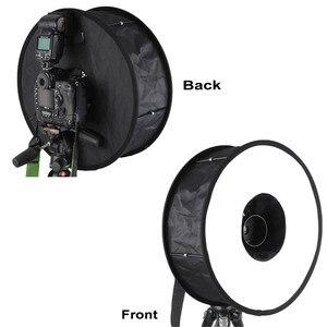 Image 5 - 45cm טבעת Softbox מבזק עגול סגנון פלאש אור לירות רך תיבה מתקפל רכה פלאש אור מפזר עבור DSLR Canon ניקון