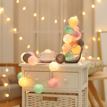 Cotton Ball Light Chain String Lights Fairy Garland LED Christmas Decorations For Home Outdoor Lighting Bedroom Hanukkah Holiday