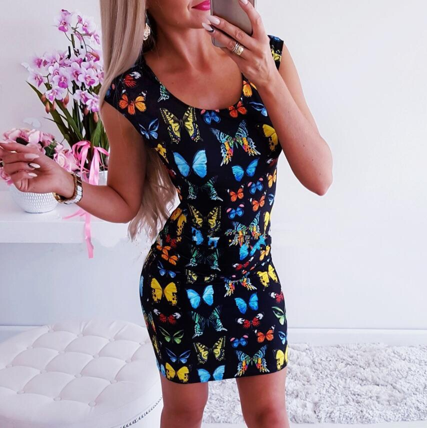 vintage straight print sleeveless o neck elegant dresses 2019 plus size dress fashion girls red sexy clothes christmas in Dresses from Women 39 s Clothing